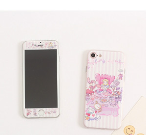 iphone8 7/6s カバー不思議の国のアリスディズニー白雪姫プリンセスiPhoneXケース液晶保護フィルム